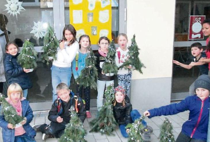 Die Kinder der Natur-AG an der Grundschule Nieder-Liebersbach widmeten sich dieses Mal den Themen Weihnachten und Advent.